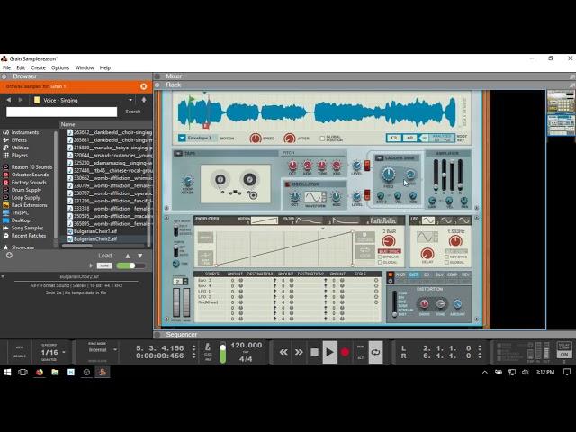 "Learn Reason 10 | ""Chopping/Slicing"" Samples in Grain - Audio"