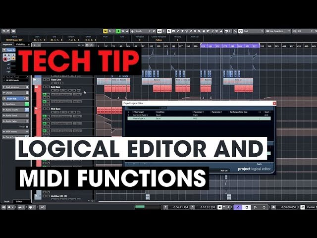 Tech Tip – Logical Editor and MIDI Functions - Audio Tutorial Videos
