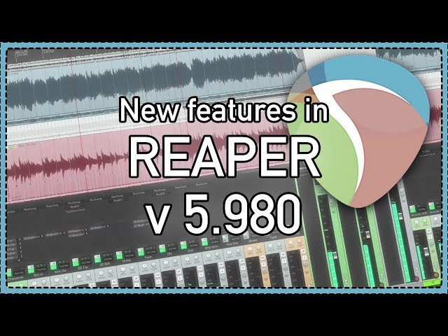 What's New in REAPER v5 980 Update – Item ruler